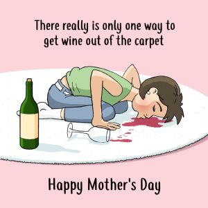 CS13  Funny Mothers Day Card Wine